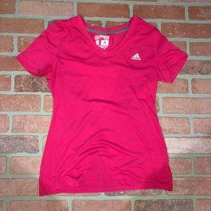 Adidas bright pink top